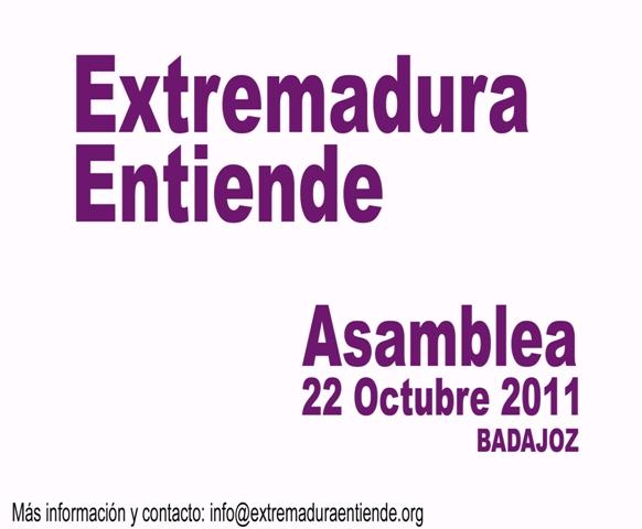 Asamblea Extremadura Entiende