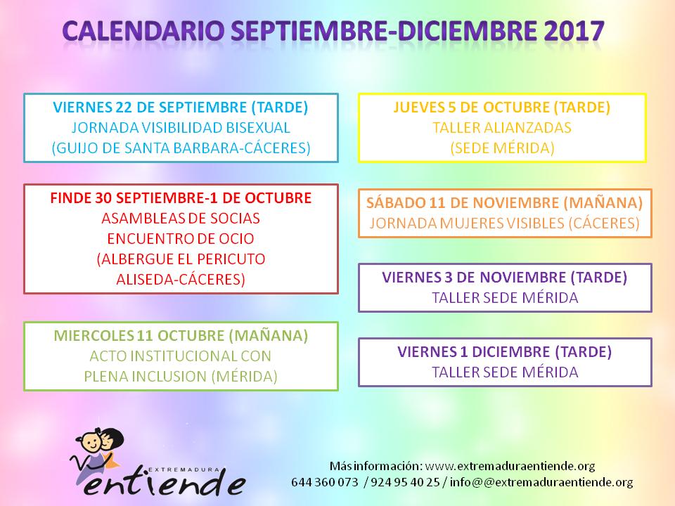 calendario actividades extremadura lgtbi