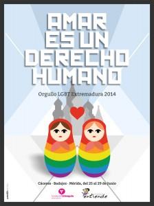 Cartel Orgullo EXTREMADURA 2014