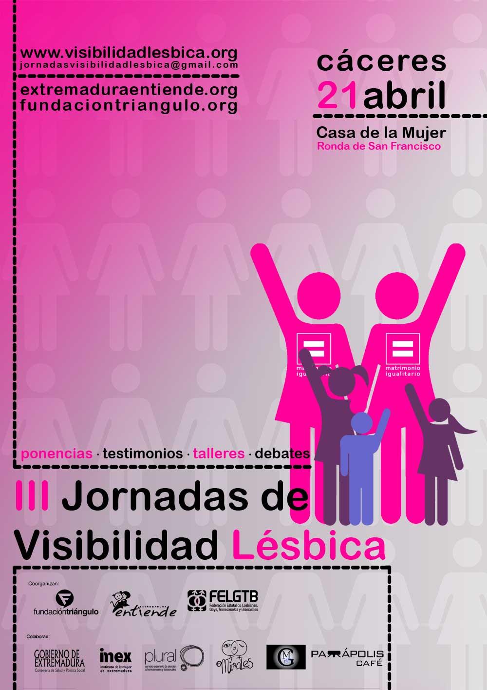 Cartel III Jornadas Visibilidad Lésbica